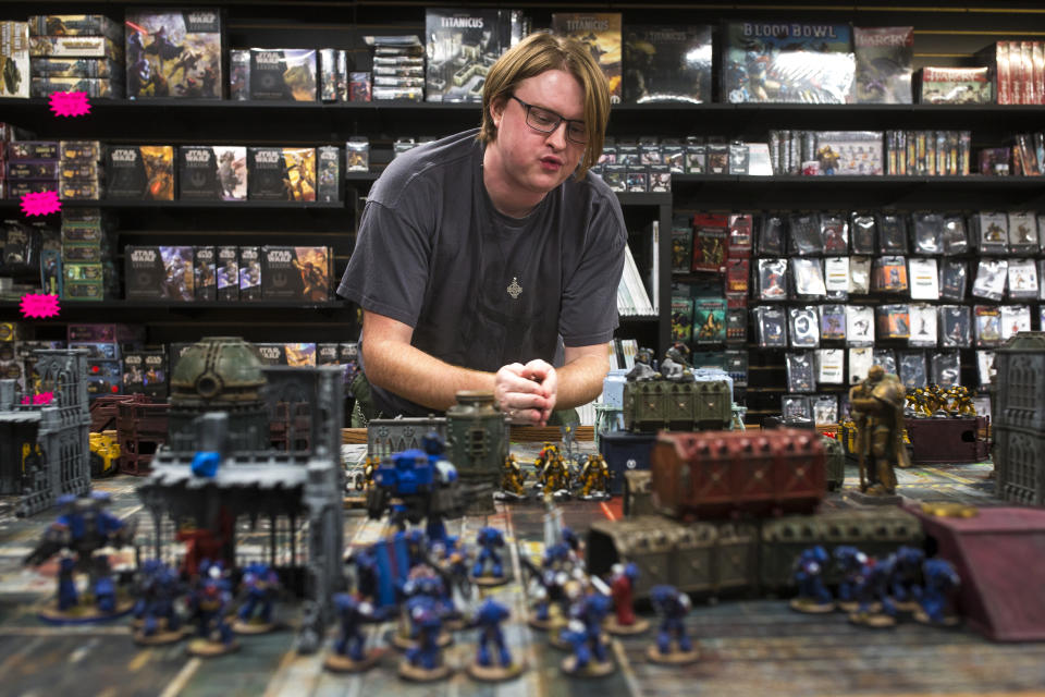 Warhammer is a popular board game created by Games Workshop. Credit: Getty.