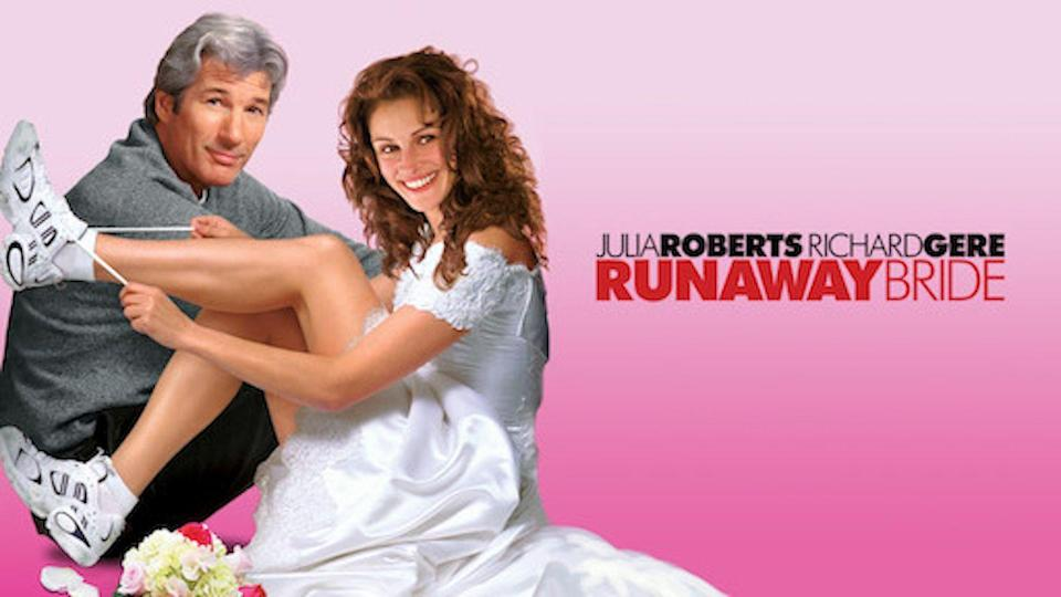 """<p>A classic 1999 romantic comedy, this movie stars Richard Gere and Julia Roberts. Roberts' character is a bride who can't stop getting engaged but never actually makes it down the aisle. Gere is the journalist writing about her. You can guess what happens next. </p><p><a class=""""link rapid-noclick-resp"""" href=""""https://www.netflix.com/watch/25517476?trackId=253788158&tctx=3%2C1%2C72120aa6-5553-4e6a-a0e4-39fd32bf4793-13312685%2Ca8ed29ec-b206-4148-ba3b-7cbf385ff09e_12148809X54XX1607718788637%2Ca8ed29ec-b206-4148-ba3b-7cbf385ff09e_ROOT%2C"""" rel=""""nofollow noopener"""" target=""""_blank"""" data-ylk=""""slk:STREAM NOW"""">STREAM NOW</a></p>"""