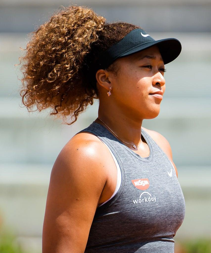 Mandatory Credit: Photo by Rob Prange/Shutterstock (11896919c) Naomi Osaka of Japan in action during their second round match at the 2021 Internazionali BNL d'Italia WTA 1000 tournament Italian Open, Tennis, Foro Italico, Rome, Italy – 12 May 2021
