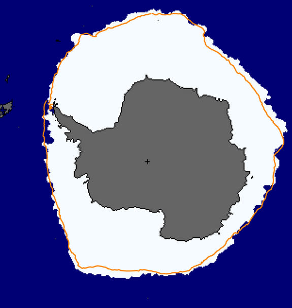 Antarctica sea ice on Sept. 16, 2014.