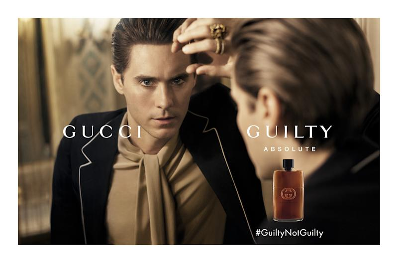 Interview with Jared Leto about his love of Gucci, endorsing the fragrance Gucci Guilty, and his relationship with Alessandro Michele