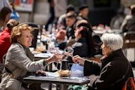 'The bistrot and its outdoor tables are a social hub,' said Herve Lesserteur. 'Seeing people counts for something.'