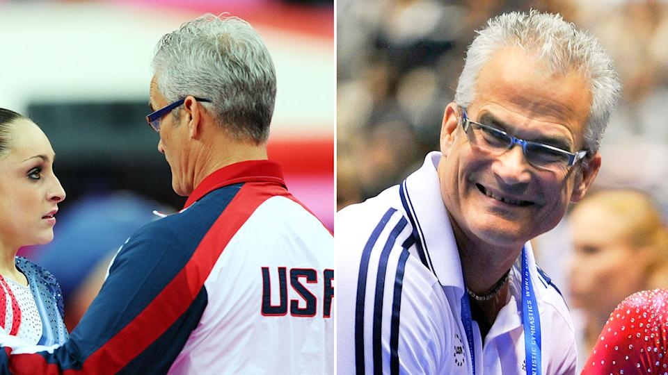Former US women's Olympic gymnastics coach John Geddert is seen in these photos.