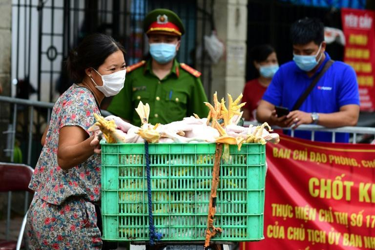 Hanoi was ordered into lockdown for two weeks on Saturday
