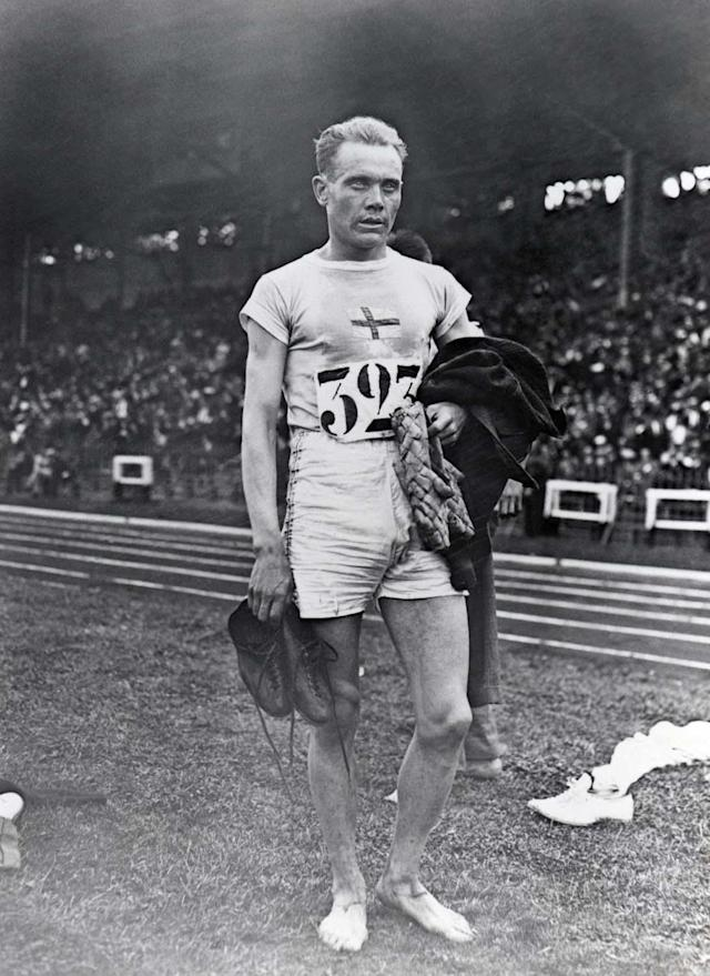 ANTWERP, BELGIUM - APRIL 20: Paavo Nurmi of Finland winner of the Men's 10,000m, stands on the field during the VII Olympic Games on April 20, 1920 in Antwerp, Belgium. (Photo by Getty Images)