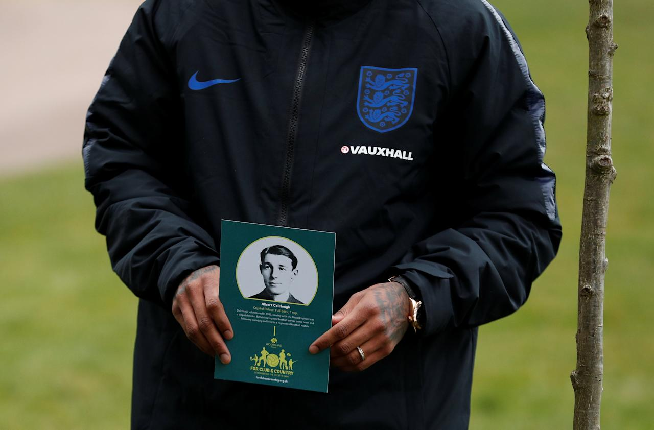 Soccer Football - England Media Day - St. George's Park, Burton Upon Trent, Britain - March 20, 2018   General view as England representatives plant trees as the FA, Woodland Trust and National Football Museum join forces to remember England internationals of 1914 who served in the Armed Forces during the First World War   Action Images via Reuters/Andrew Boyers