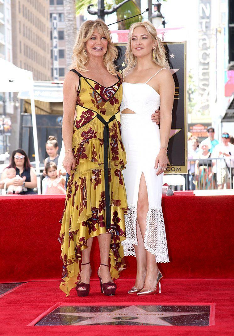 Goldie Hawn with her daughter, Kate Hudson. (Photo: Jesse Grant/Getty Images for Disney)
