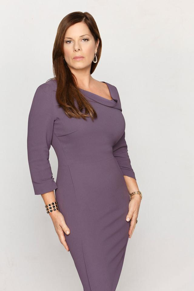 "Marcia Gay Harden as Diane in ABC's ""Trophy Wife."""