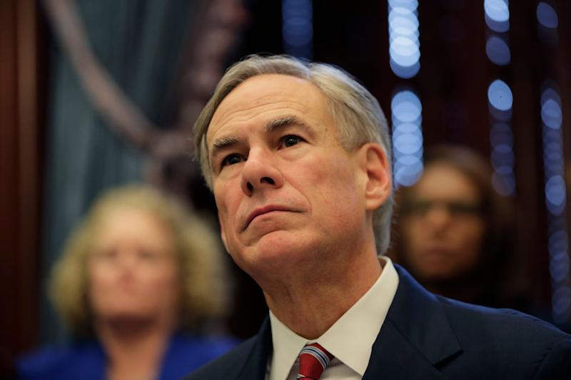 Texas Gov. Greg Abbott gives an update on the coronavirus on March 13, 2020, in Austin, Texas. Abbott declared a state of disaster Friday as the coronavirus pandemic spread to all of the state's biggest cities. (AP Photo/Eric Gay)