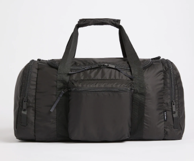 The Layover Packable Duffle in True Black