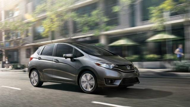 Gray Honda Fit