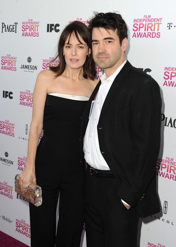SANTA MONICA, CA - FEBRUARY 23: (L-R) Actors Rosemarie DeWitt and Ron Livingston attend the 2013 Film Independent Spirit Awards at Santa Monica Beach on February 23, 2013 in Santa Monica, California.  (Photo by Kevin Winter/Getty Images)