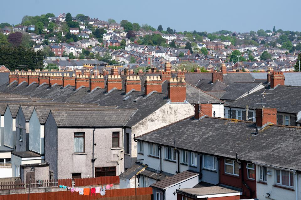 NEWPORT, UNITED KINGDOM - APRIL 25: A general view of a residential area on April 25, 2020 in Newport, United Kingdom. British Prime Minister Boris Johnson, who returned to Downing Street this week after recovering from Covid-19, said the country needed to continue its lockdown measures to avoid a second spike in infections. (Photo by Matthew Horwood/Getty Images)