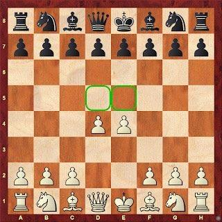 chess board advance both central pawns