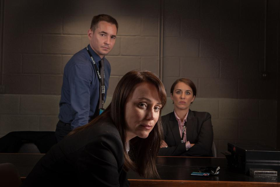 Programme Name: Line Of Duty - TX: 12/02/2014 - Episode: n/a (No. n/a) - Picture Shows: (L-R) Detective Sergeant Steve Arnott (MARTIN COMPSTON), Detective Inspector Lindsay Denton (KEELEY HAWES), Detective Constable Kate Fleming (VICKY McCLURE) - (C) World Productions/Mark Bourdillon - Photographer: Mark Bourdillon