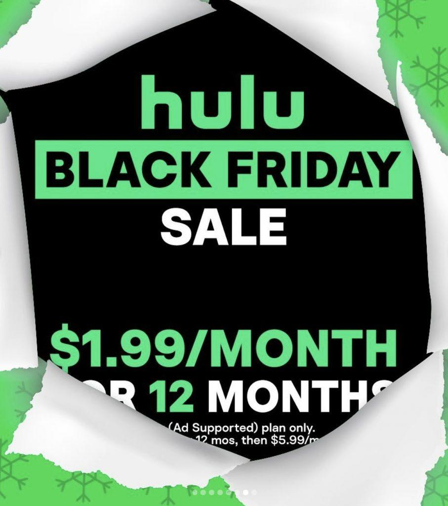 Hulu To Offer $1.99 Basic Plan Monthly Subscription for Black Friday