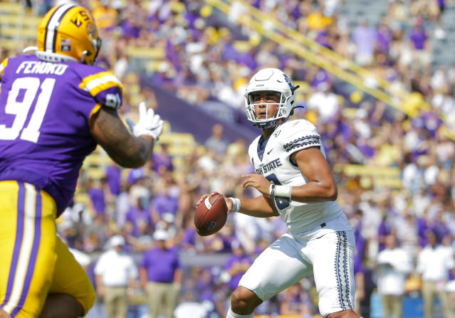 Utah State's Jordan Love made a strong enough impression on the Packers for them to use a first-round draft pick on the quarterback. (Derick E. Hingle-USA TODAY Sports)