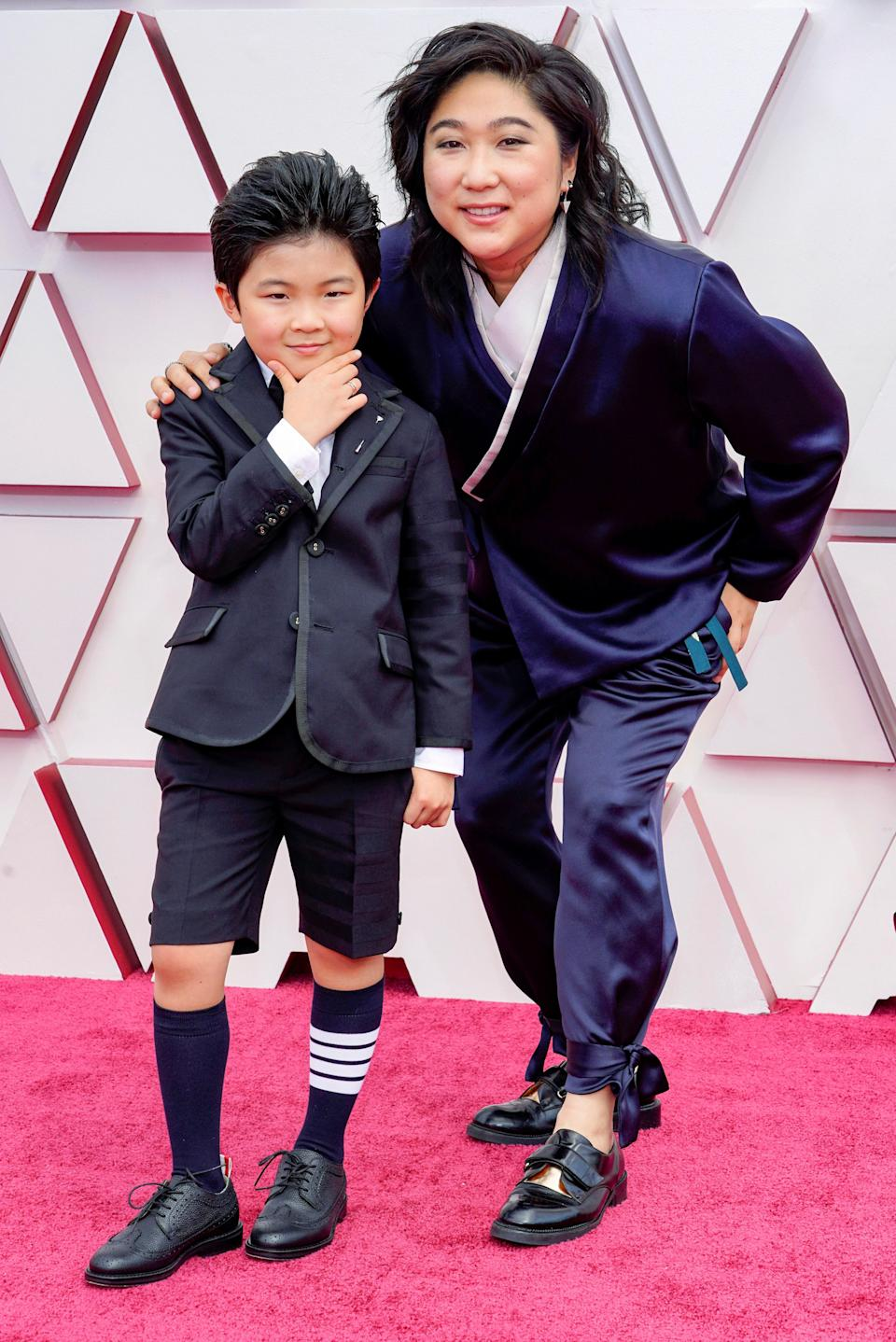 Alan Kim is goals. The shorts, the socks, the hair - his style is unparalleled. Never mind the fact he is only for an 8-year old. (Seen here taking on the red carpet with his stylish mom, Vicky Kim)