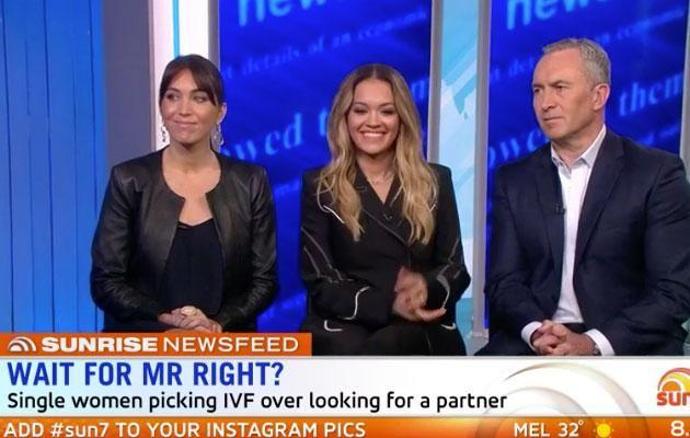 Rita Ora has opened up this morning on Sunrise about her fertility issues. Source: Seven