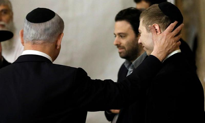 In 2015 Netanyahu his son Yair visit the Wailing Wall in Jerusalem