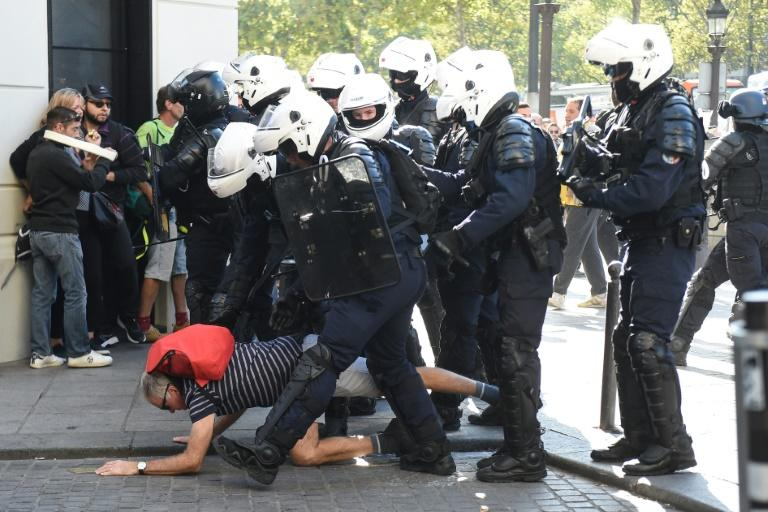 Thousands of police were deployed (AFP Photo/Lucas BARIOULET)