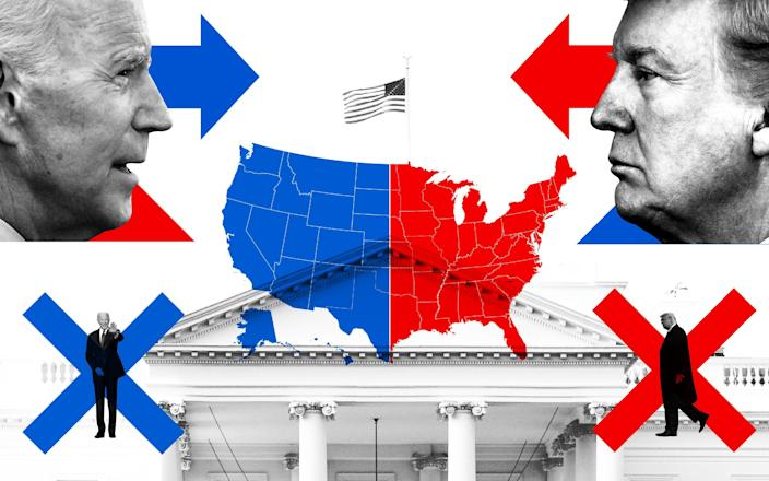US Election Results 2020 image with picture of Joe Biden and Donald Trump