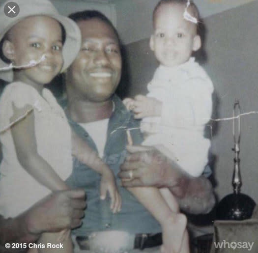 "<p>Chris Rock recycled an old favorite. One look at the pic and you know which one he is. ""I had the best,"" he wrote. ""Hope you got one too. Happy Father's Day to all the real dads out there."" (Photo: C<a href=""https://www.instagram.com/p/BVfB2_NB8nb/"" rel=""nofollow noopener"" target=""_blank"" data-ylk=""slk:hris Rock via Instagram"" class=""link rapid-noclick-resp"">hris Rock via Instagram</a>) </p>"