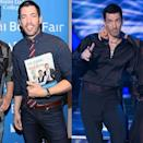 """<p>The <em>Property Brothers</em> star is best known for his real estate deals while his brother Jonathan Scott oversees the big transformations on their HGTV show. However, on <em>Dancing With the Stars</em>, Drew experienced a personal transformation.</p><p>He lost 30 pounds competing on season 25 in 2017. """"I'm seeing my abs like I've never seen them before,"""" he told <a href=""""https://www.usmagazine.com/entertainment/news/drew-scott-has-lost-30-pounds-on-dancing-with-the-stars-w509318/"""" rel=""""nofollow noopener"""" target=""""_blank"""" data-ylk=""""slk:Us Weekly"""" class=""""link rapid-noclick-resp""""><em>Us Weekly</em></a>. """"I have not been a 32 waist since I was in grade eight. I was still active [before], but I just haven't done cardio like this since I was a teenager.""""</p>"""