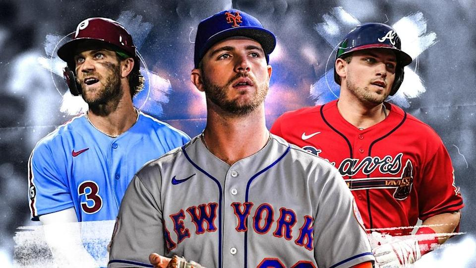 Bryce Harper, Pete Alonso and Austin Riley treated image