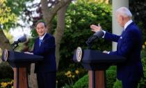 U.S. President Biden holds joint news conference with Japan's Prime Minister Suga at the White House in Washington