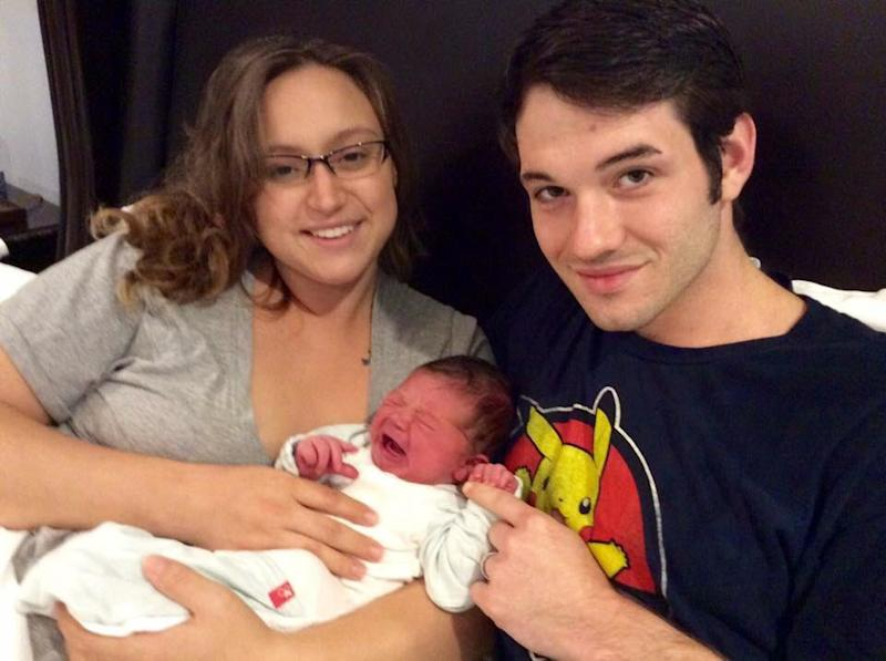 Holly Wood gave birth to Atlas during Hurricane Harvey, with only her husband, John, and a nurse-midwife by her side. (Courtesy of Holly Wood)