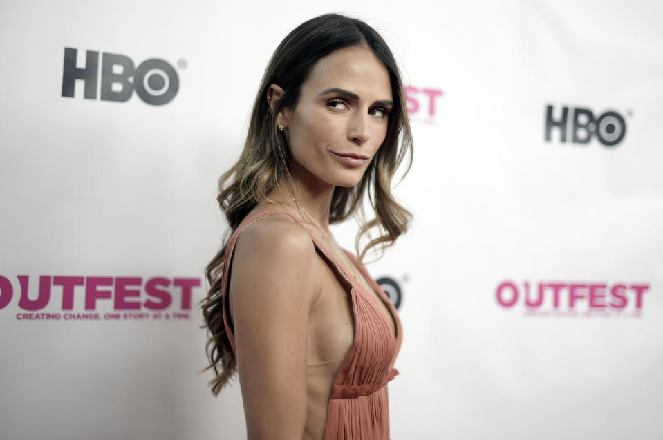Jordana Brewster attends the 2018 Outfest Los Angeles LGBT Film Festival Opening Night Gala at the Orpheum Theatre, Thursday, July 12, 2018, in Los Angeles. (Photo by Richard Shotwell/Invision/AP)