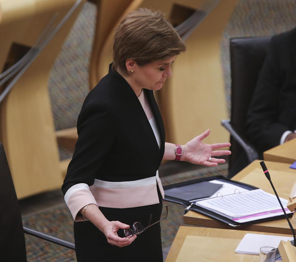 First Minister Nicola Sturgeon apologised for problems with the app for Scotland's Covid vaccine certification scheme. (Fraser Bremner/Scottish Daily Mail/PA)