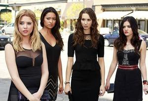 Ashley Benson, Shay Mitchell, Troian Bellisarion, Lucy Hale   Photo Credits: Ron Tom/ABC Family