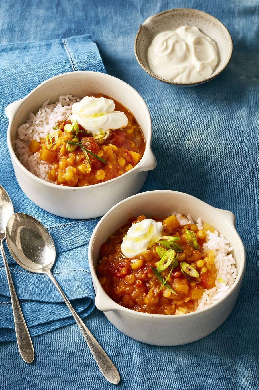 "<p>This hearty slow cooker dish is packed with hearty-healthy veggies like split peas, tomatoes, and <a href=""https://www.medicalnewstoday.com/articles/284479.php"" rel=""nofollow noopener"" target=""_blank"" data-ylk=""slk:butternut squash."" class=""link rapid-noclick-resp"">butternut squash.</a></p><p><a href=""https://www.womansday.com/food-recipes/food-drinks/recipes/a60510/curried-butternut-squash-stew-recipe/"" rel=""nofollow noopener"" target=""_blank"" data-ylk=""slk:Get the Slow Cooker Curried Butternut Squash Stew recipe."" class=""link rapid-noclick-resp""><em><strong>Get the Slow Cooker Curried Butternut Squash Stew recipe.</strong></em></a></p><p><strong><a class=""link rapid-noclick-resp"" href=""https://www.amazon.com/Crock-Pot-SCCPVL610-R-A-6-Qt-Red/dp/B0196BJHXY/?tag=syn-yahoo-20&ascsubtag=%5Bartid%7C10070.g.2176%5Bsrc%7Cyahoo-us"" rel=""nofollow noopener"" target=""_blank"" data-ylk=""slk:SHOP CROCKPOTS"">SHOP CROCKPOTS</a></strong></p>"
