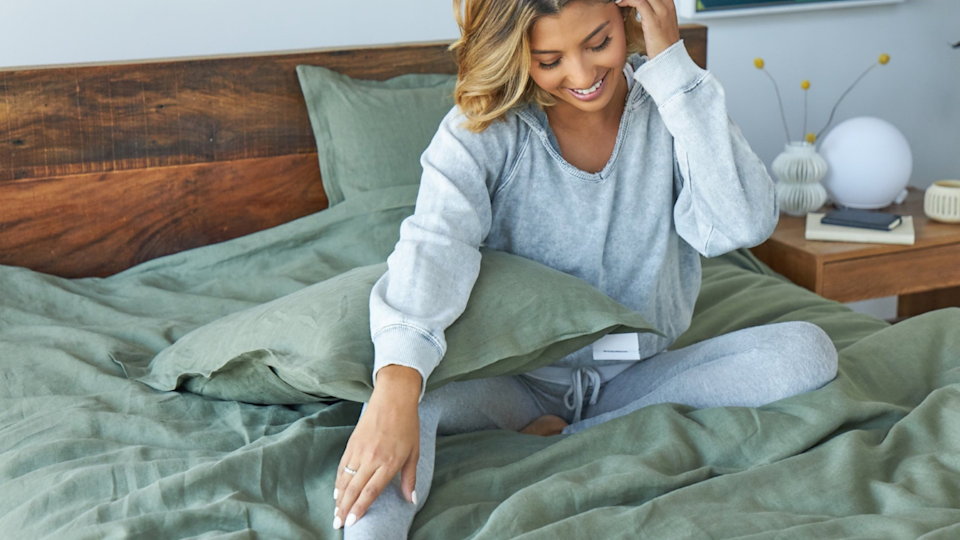 Avocado's organic linen sheets and duvet covers are on sale.