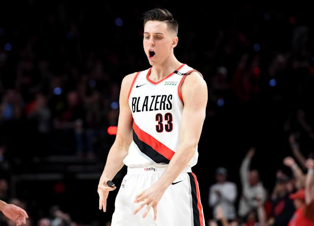 Zach Collins has missed most of this season. (Photo by Steve Dykes/Getty Images)