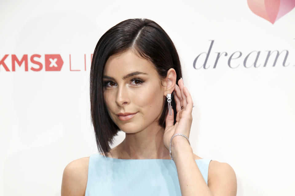 BERLIN, GERMANY - SEPTEMBER 19: German singer Lena Meyer-Landrut (jewelry by Cartier) attends the Dreamball 2018 at WECC Westhafen Event & Convention Center on September 19, 2018 in Berlin, Germany. (Photo by Isa Foltin/WireImage)