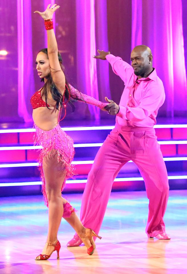 "Cheryl Burke and Emmitt Smith perform on ""Dancing With the Stars: All-Stars."""