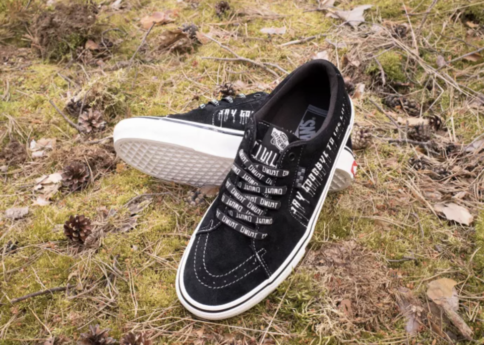 The black-based iteration of the Civilist x Vans Sk8-Low. - Credit: Courtesy of Vans