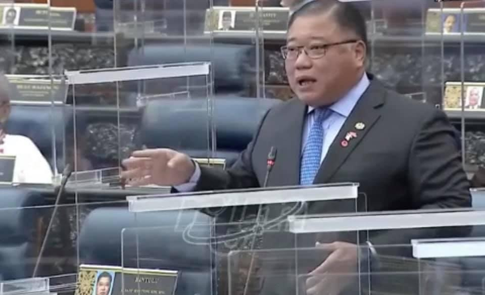 Bintulu MP Datuk Seri Tiong King Sing's derogatory remarks about the Health director-general caused an uproar in Parliament. — Picture courtesy of Facebook/Tiong King Sing