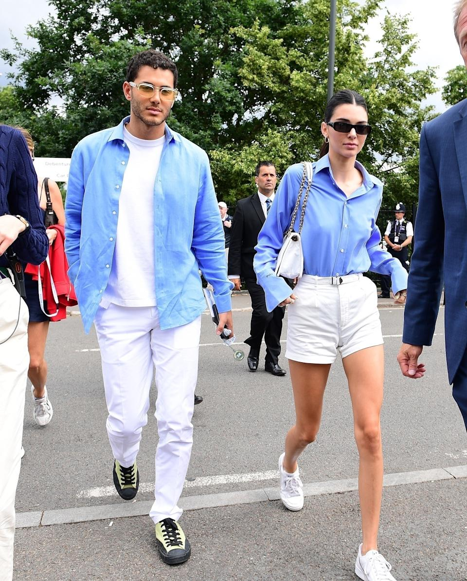 """<h1 class=""""title"""">Kendall Jenner arrives at Wimbledon with her friend Younes Bendjima</h1><cite class=""""credit"""">Photo: Backgrid</cite>"""