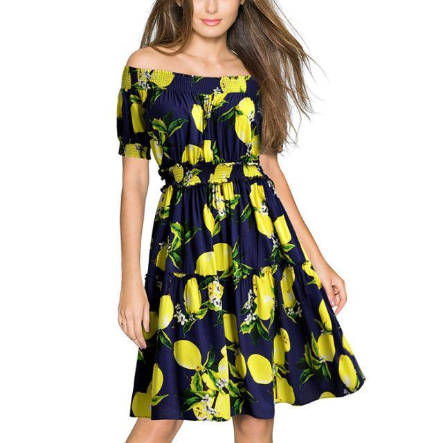 """<p>Can you believe this lemon-print dress is from Walmart?<span> It's so cute you'll want to wear it all summer long. ($22.99; <a href=""""https://www.walmart.com/ip/MIUSOL-Women-s-Casual-Off-Shoulder-Lemon-Flare-Party-Mini-Dress/447406999#about-item"""" rel=""""nofollow noopener"""" target=""""_blank"""" data-ylk=""""slk:walmart.com"""" class=""""link rapid-noclick-resp"""">walmart.com</a>)</span></p><p><span><strong><a href=""""https://www.walmart.com/ip/MIUSOL-Women-s-Casual-Off-Shoulder-Lemon-Flare-Party-Mini-Dress/447406999#about-item"""" rel=""""nofollow noopener"""" target=""""_blank"""" data-ylk=""""slk:BUY NOW"""" class=""""link rapid-noclick-resp"""">BUY NOW</a></strong><br></span></p><p><span><strong>RELATED: <a href=""""http://www.redbookmag.com/fashion/g4415/best-summer-dresses-for-weddings/"""" rel=""""nofollow noopener"""" target=""""_blank"""" data-ylk=""""slk:12 Fresh and Fun Dresses to Wear to All Those Summer Weddings On Your Calendar"""" class=""""link rapid-noclick-resp"""">12 Fresh and Fun Dresses to Wear to All Those Summer Weddings On Your Calendar</a></strong><br></span></p>"""