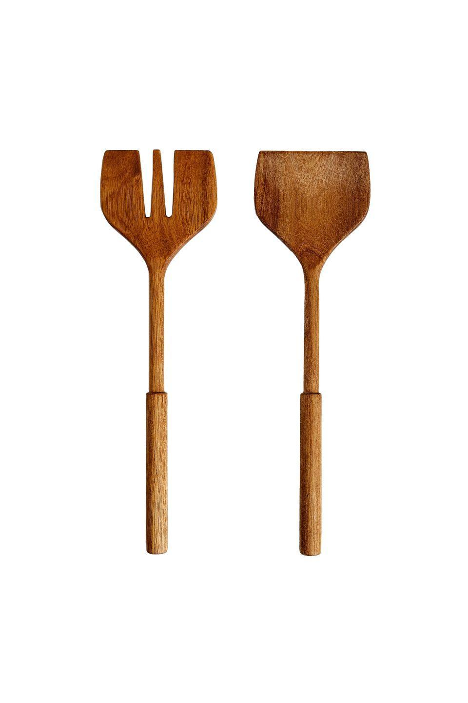 """<p>The distinct handle and blunted edge of these shapely servers grants them a contemporary feel. Made from acacia wood, which has a beautiful natural grain, they should serve you well for years to come. £17.99, <a href=""""https://www.zarahome.com/gb/wooden-servers-pack-of-2-l41212320"""" rel=""""nofollow noopener"""" target=""""_blank"""" data-ylk=""""slk:zarahome.com"""" class=""""link rapid-noclick-resp"""">zarahome.com</a></p>"""