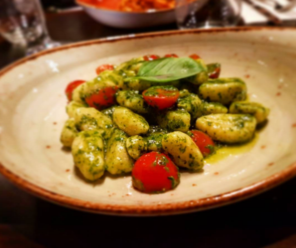 <p>Pop the gnocchi into boiling water for three minutes. While it's in, half some cherry tomatoes. Drain the gnocchi and mix with pesto, the tomatoes and some fresh basil. Done. <i>[Photo: Instagram/Jamie Mat Horgan]</i></p>