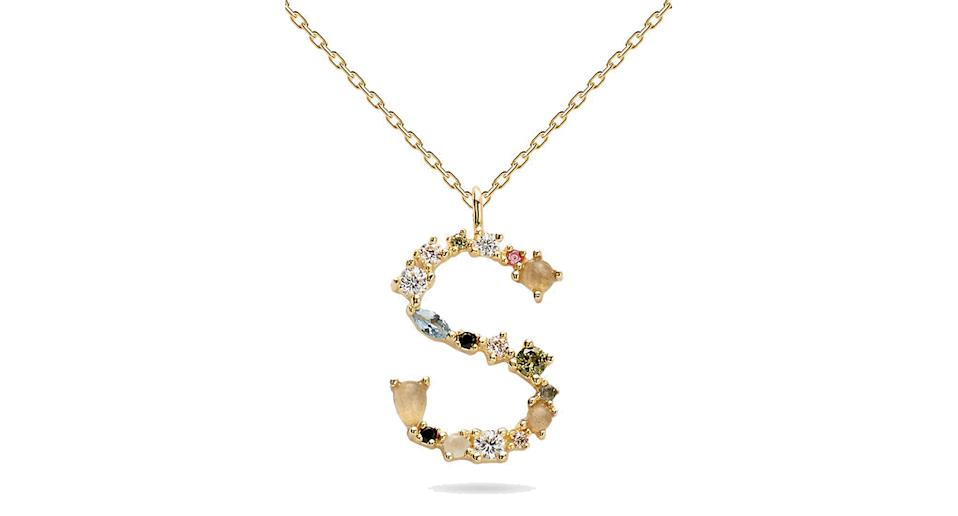 PDPAOLA Cubic Zirconia Initial Pendant Necklace