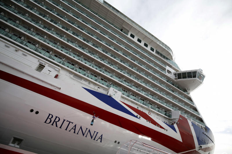 Queen Elizabeth II officially names P&O's new cruiser liner Britannia.