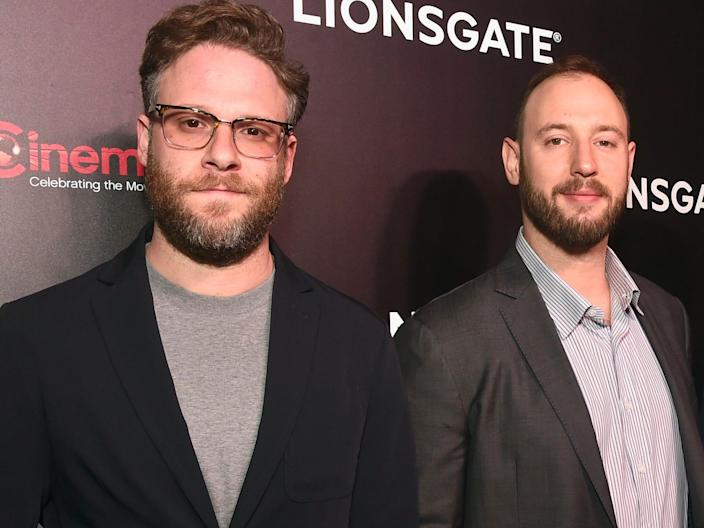 <br>(L-R) Seth Rogen and Evan Goldberg.