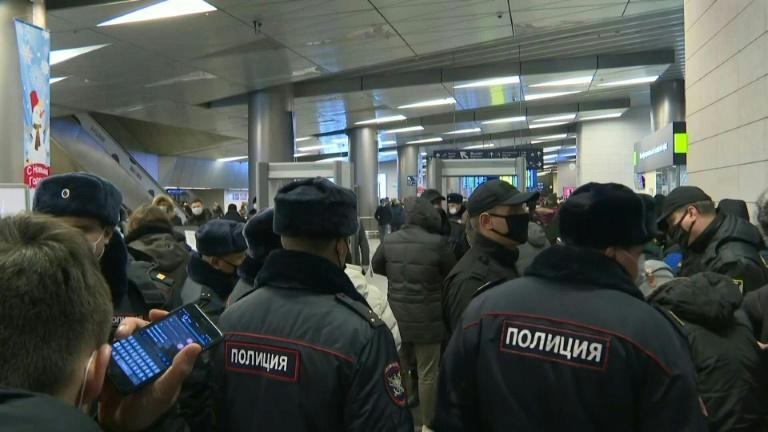 Moscow police in airport ahead of Kremlin critic Navalny's return
