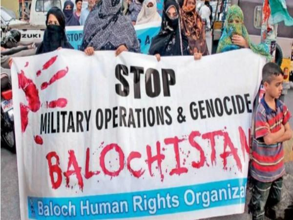 People protesting against the enforced disappearances of Balochs in Pakistan.